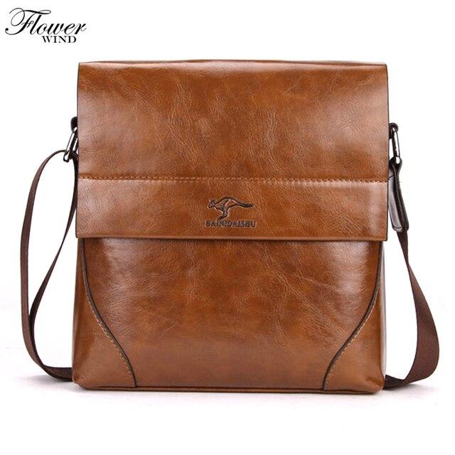 FLOWER WIND 2017 brand Man Fashion Canvas Bag Men s Shoulder Bag Leather  Memessenger bag High Quality faa8d0047f