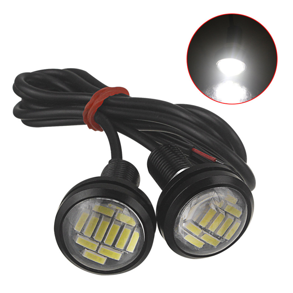 1 pcs DC <font><b>12</b></font> V Eagle Eye LED Licht 4014 12SMD <font><b>23</b></font> MM Dagrijverlichting DRL Backup Light Car Auto lamp image