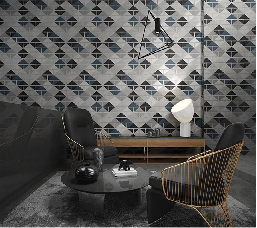 Beibehang 3d wallpaper Brick Living Room Bedroom Background Wall Paper Modern Fashion Rhombus Brick Lattice Wallpaper roll