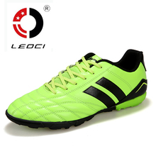 LEOCI Hard Count Boy Kids Men Football Boots Turf Soccer Shoes Trainers Sports Sneakers Shoes Soccer Cleats Shoes Size 33-44