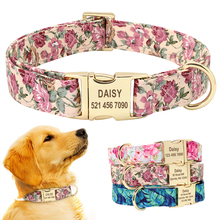 Personalized Collar for Dogs Nylon Dog Nameplate Collars Pet Tag Customized Free Engraved ID Small Medium