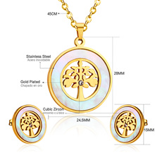 Stainless Steel Shell Jewelry Set
