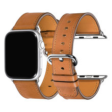 iStrap Brown 38mm 42mm Strap For Apple watch High Quality Calf Leather Watchband band Super soft