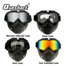 Queshark Ski Snowboard Mask Winter Ski Snowmobile Goggles Windproof Sk