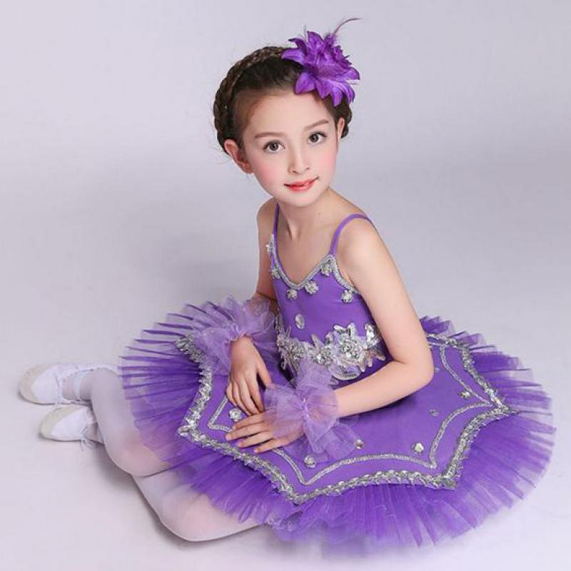 Children Ballet Dance Dress Gymnastics Leotard For Girls Sequins Princess Swan Lake Ballet Costumes Professional Tutu Kids