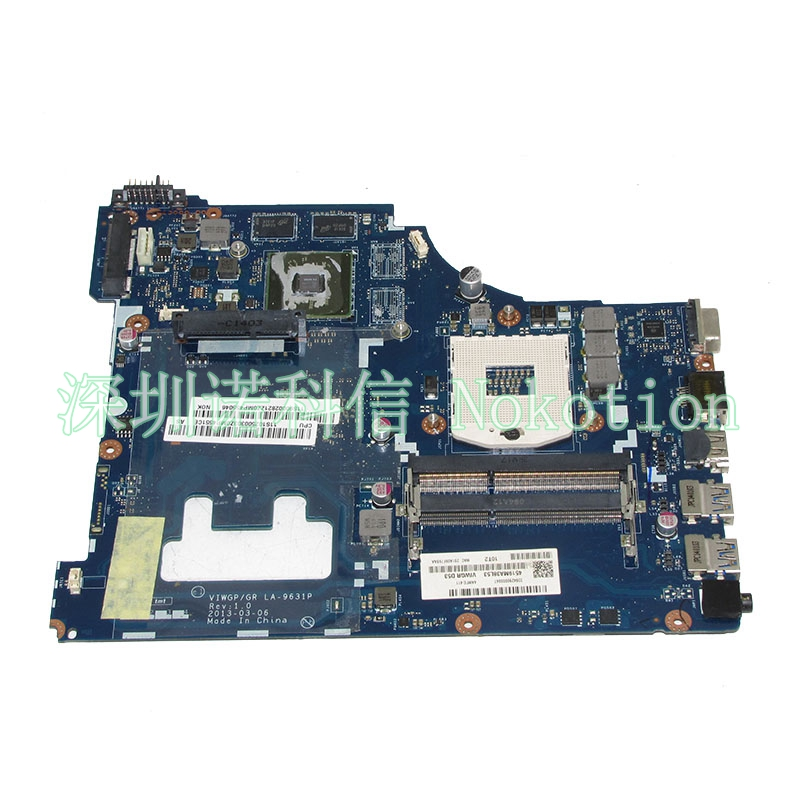 NOKOTION VIWGP GT LA-9631P Main board For lenovo G500 15.6 inch laptop motherboard HM76 DDR3 full test nokotion notebook pc motherboard for lenovo ideapad g500 main board system board viwgpgr la 9632p hm76 ddr3