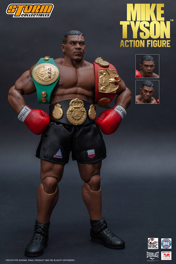 Storm Toys 1/12 8inch Boxing Tyson Boxing Boxer Champion Heavy Weight Mike Tyson Action Figure Three Head Face Model herb tyson word 2010 bible