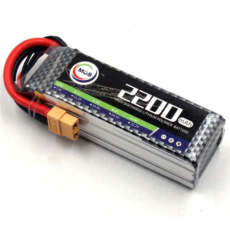 MOS 3 s Lipo Batterie 11.1 v 2200 mah 25C pour Hélicoptère RC Quadcoptères avion voiture 3 s lipo batteria