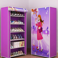 Shoes Cabinet Simple Shoe Rack With Cover Multifunctional Shoes Storage Organizer Large Capacity Home Furniture