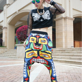 Women Hip Hop Small Feet Dance Harem Pants Street Face Drop Baggy Trousers Hot Selling