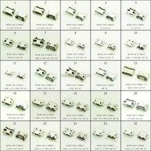 100 шт./лот 25 моделей Micro USB Джек 5 P 5pin USB Зарядки Разъем Micro USB Разъем Mix SMD DIP для PAD/таблетка/Мобильный