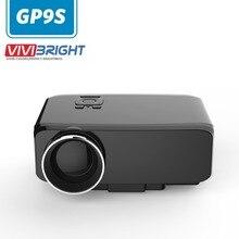 GP9S Proyector Portable 800 lúmenes 16:9 AV/SD/USB/VGA/HDMI del Teatro Casero 800*480 multimedia Beamer/proyector/proyector LCD