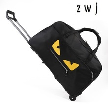 20 дюймов Монстр багаж чемодан сумка женские нейлон путешествия спортивный костюм водонепроницаемые женские дорожные сумки тележки