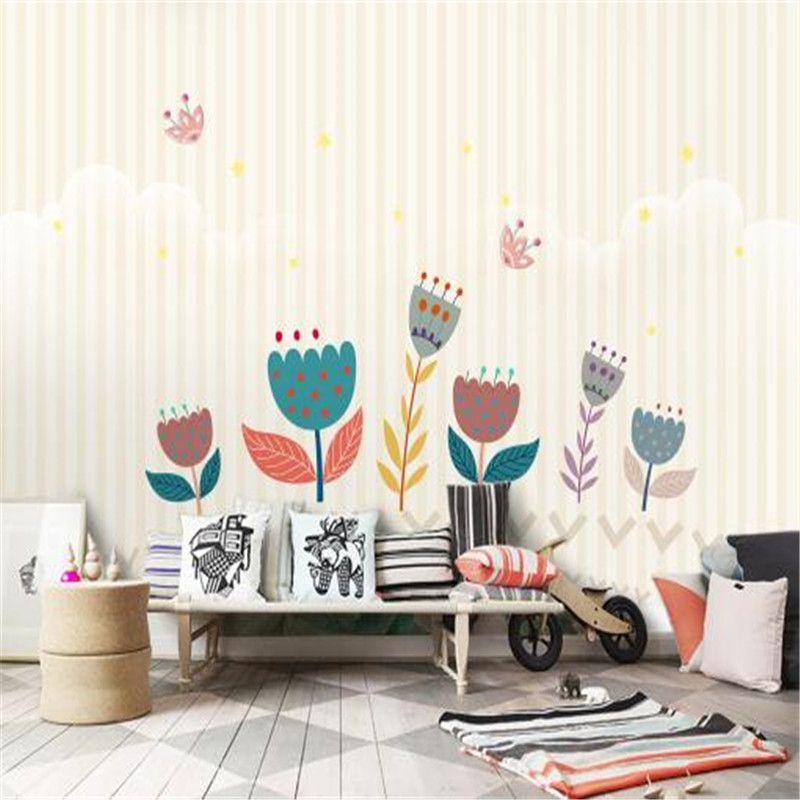 Custom Photo Wallpapers Home Decor Flowers Cartoon Non-Woven Wall Papers for Walls 3D Bear Pattern for Children Room Home Decor custom photo size wallpapers 3d murals for living room tv home decor walls papers nature landscape painting non woven wallpapers