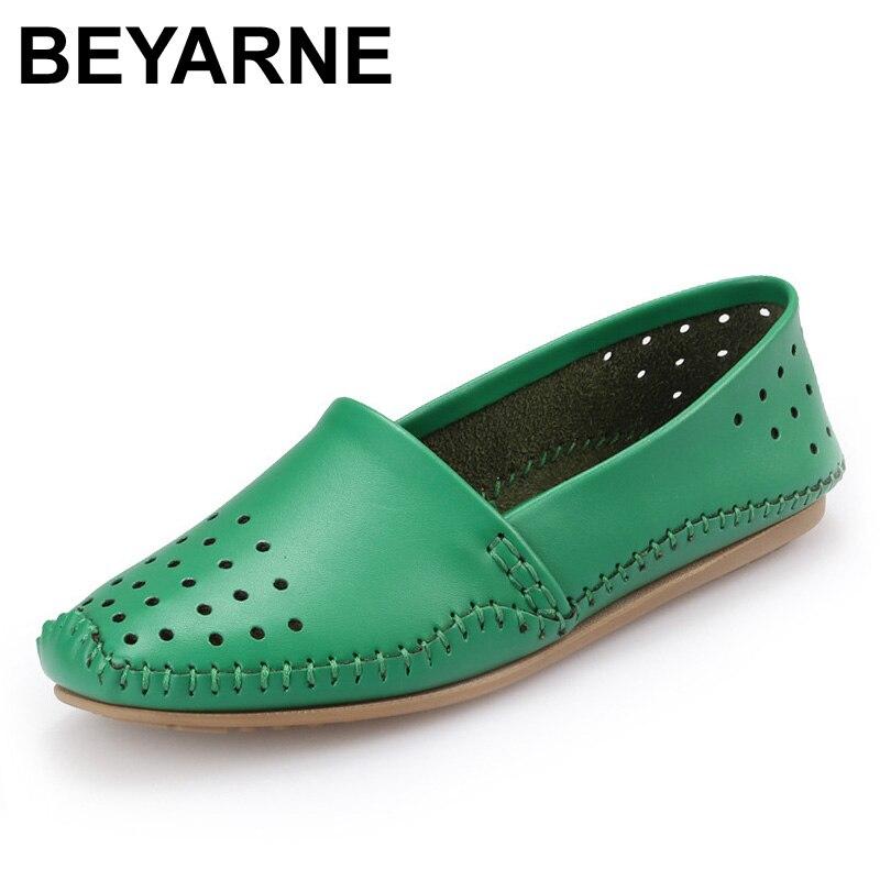 Beyarne marca primavera mujeres zapatos de los planos zapatos de mujer para el o