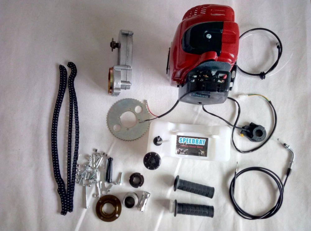 4 tiempos 49CC gasolina motorizado Dirt Bike Motor de bicicleta Kits con tanque de combustible|engine kit|motor engine kitengine bike kit - AliExpress