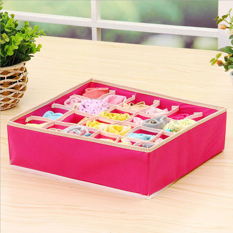 Grid Foldable Divider Storage Box organizers Closet Organizer Boxes Underwear Scarfs Socks Bra for Underwear Folding Box S116A