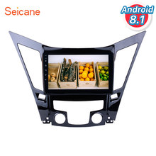 Seicane Android 8.1 9 Inch All-In-One Gps Navigatiesysteem Voor 2011-2015 Hyundai Sonata I40 i45 Met Touch Screen Tpms Dvr Swc(China)