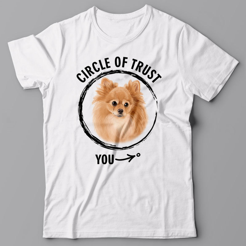 POMERANIAN gift for dog lover Cool T-shirt CIRCLE OF TRUST