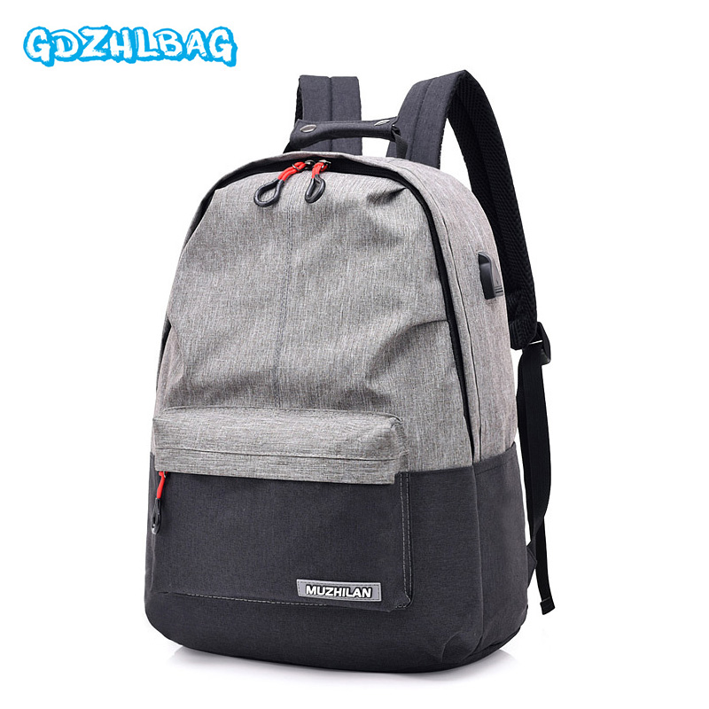External USB Charge Laptop Backpack Waterproof Rucksack Notebook Computer Bag 15.6 Inch for Women Men School Bag B308 army green men women laptop backpack 15 15 6inch rucksack school bag travel waterproof backpack men notebook computer bag black