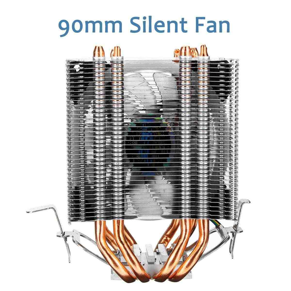 90mm 4 Heatpipe chłodnica procesora komputer stacjonarny 4Pin RGB wiatrak led radiator chłodzący dla Intel 775/1150/1151/1155/1156/1366 dla AMD