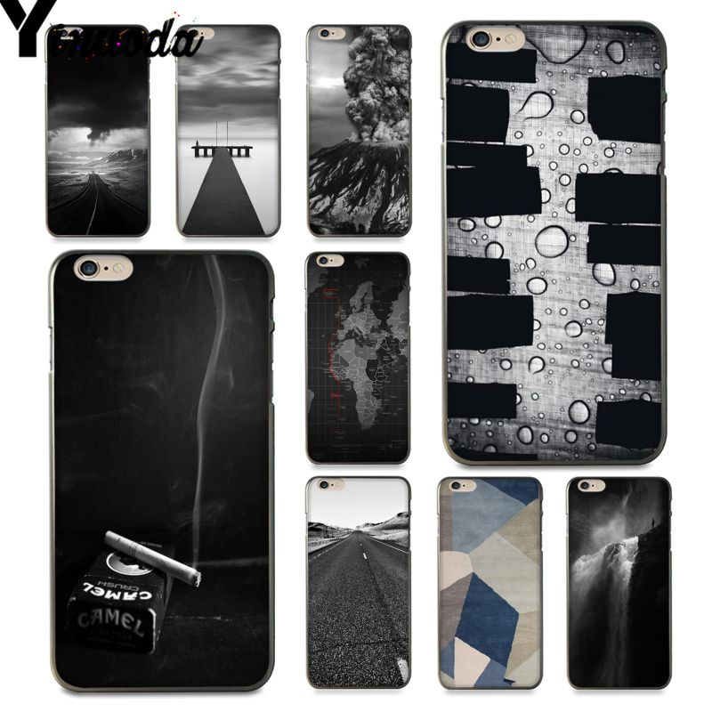Yinuoda For iphone 7 6 X Case Ash Road Pattern Skin Volcano Design Phone case for iPhone 7 6 X 8 6s Plus 5 5S SE XR XS XSMAX image