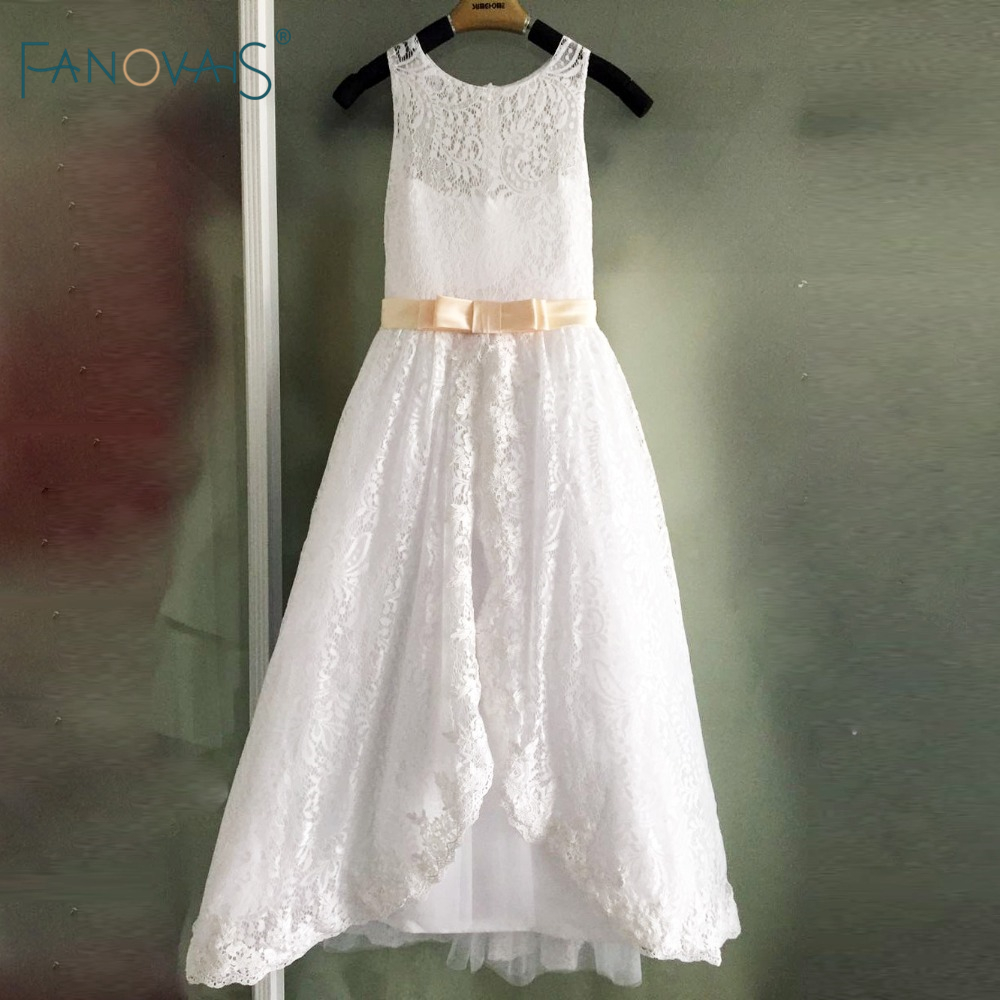 Elegant lace flower girl dresses for wedding 2017 girl for Wedding dresses for child