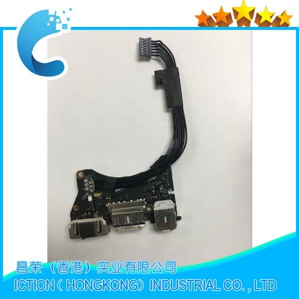 Original para magsafe dc jack para apple macbook air 11 ''a1465 usb power board audio 820-3213-a 2012 año md224 md223