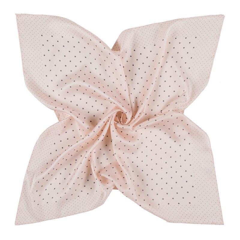 60cm*60cm 2020 New Luxury Brand Women Twill Silk Scarf Small Dot Neckerchief Scarf Fashion Bandana Kerchief Square Scarves