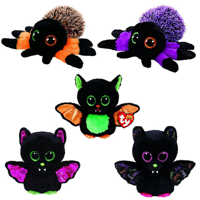 Ty Vaias Gorro Peludo o Morcego Aranha de Pelúcia Bicho de pelúcia Collectible Macia Grandes Olhos Boneca brinquedos para crianças juguetes HY