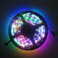 5 M WS2801 RGB IP67 wodoodporna (48 diod led 16 pikseli) /M 5050 SMD RGB LED pasek światła DC12V