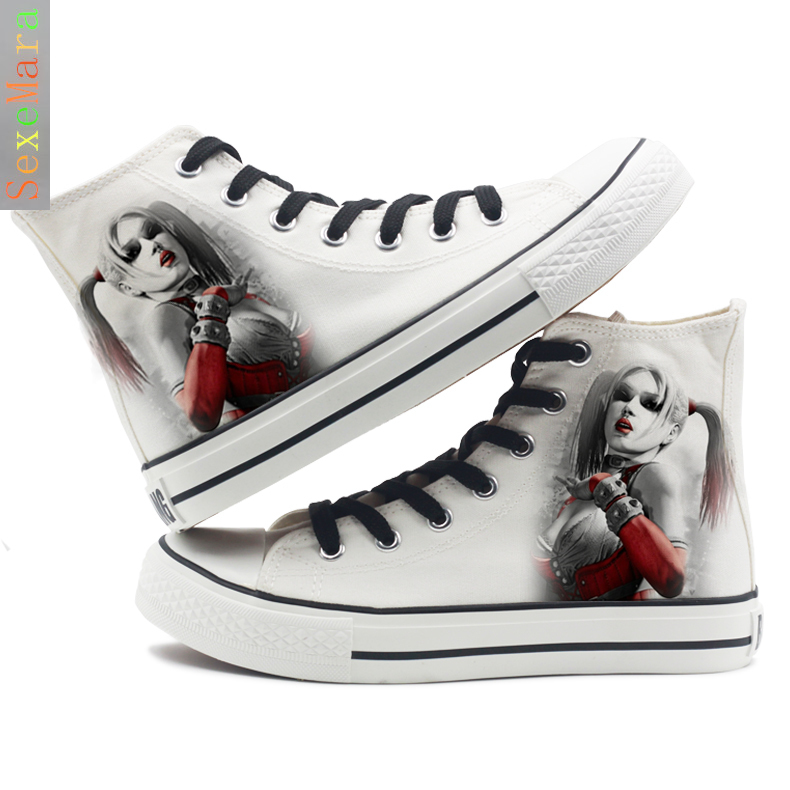 678afa6ec884de Suicide Squad harley quinn Women Canvas Shoes Flat with figure Casual Shoe  Lady Breathable Sneakers Joker Pattern -in Shoes from Novelty   Special Use