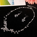 100% handmade crystal necklace earrings wedding accessories pearl jewelry nigerian wedding african beads jewelry set crystal