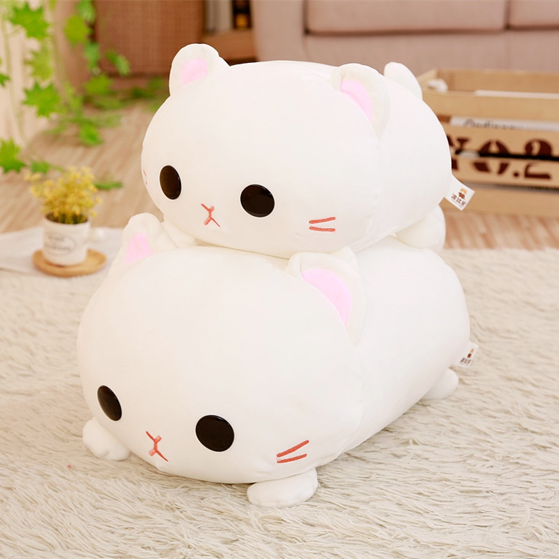 1pc 35/45cm Kawaii Lying Cat Plush Soft Pillow Cute Stuffed Animal Toys Doll Lovely Toys for Kids Girls Valentines Birthday Gift