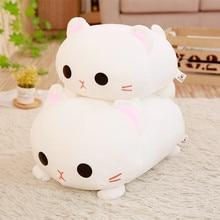 1pc 35/45cm Kawaii Lying Cat Plush Soft Pillow Cute Stuffed Animal Toys Doll Lovely Toys for Kids Girls Valentines Birthday Gift
