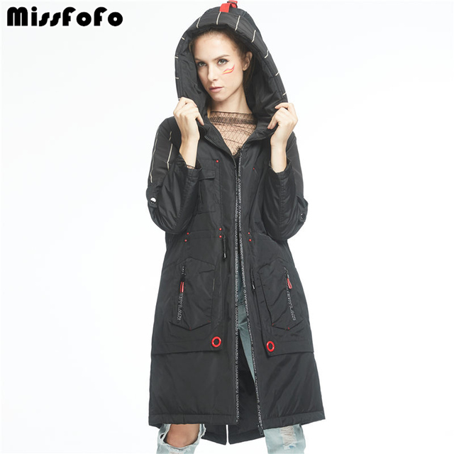 MissFoFo 2017 New Women's Duck Down Jacket Cool Winter Long Down ...
