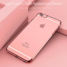 iPhone 7 Case Original For iPhone 7 Plus Case Silicone Frame Transparent Backplane Cover Luxury Slim Phone Shell  Capa