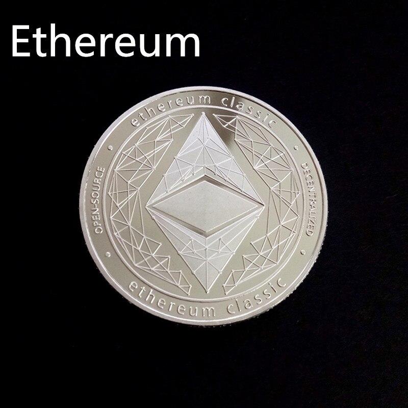 Позолоченная Виртуальная металлическая памятная монета биткоины сувенир искусство коллекционный бизнес подарок праздничное украшение подарок античный Im - Цвет: Ethereum
