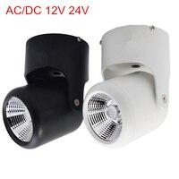 AC/DC 12 В 24 В 10 Вт 20 Вт удара светодиодные светильники поверхностного монтажа потолка прожектор 360 градусов вращения потолочный светильник Бес...