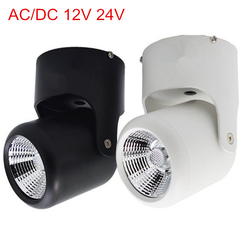 AC/DC 12V 24V 10W <font><b>20W</b></font> <font><b>COB</b></font> <font><b>Led</b></font> downlights Surface Mounted Ceiling Spot light 360 degree Rotation Ceiling <font><b>Downlight</b></font> Free shipping image