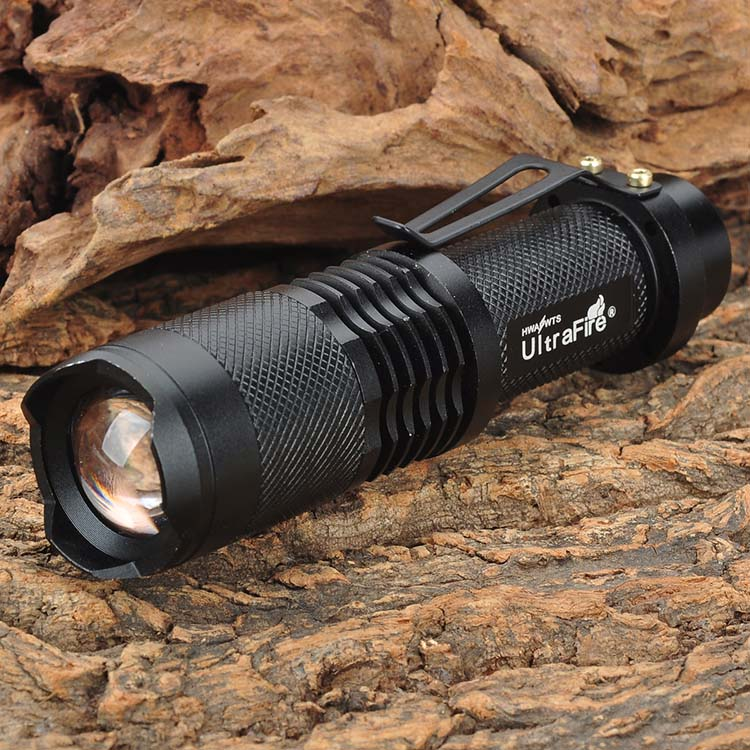 UltraFire Highlight mini led flashlight  SH98 XM-L T6 910lm 3-Mode White Light Zooming Flashlight lantern - Black (1 x 18650) ultrafire bd0056 led 100lm 3 mode white zooming flashlight black golden 1 x 18650