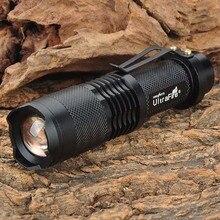 Resalte mini led linterna UltraFire SH98 910lm XM-L T6 3-el Modo de Luz Blanca Zoom Linterna linterna-Negro (1×18650)