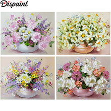 Dispaint Full Square/Round Drill 5D DIY Diamond Painting Flower color landscape 3D Embroidery Cross Stitch Home Decor Gift