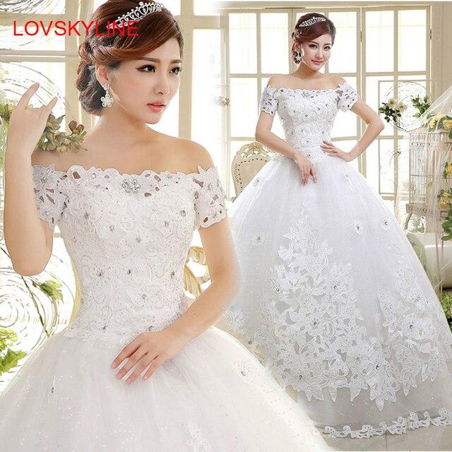 vestido de novia vestidos de cuello barco vestido de novia de la