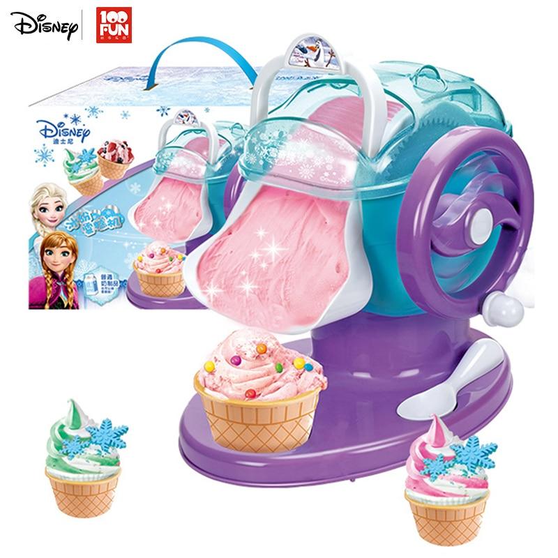 100FUN Ice Cream Machine Children Homemade Home DIY Toy Smoothie Ice Cream Machine Suit Girl