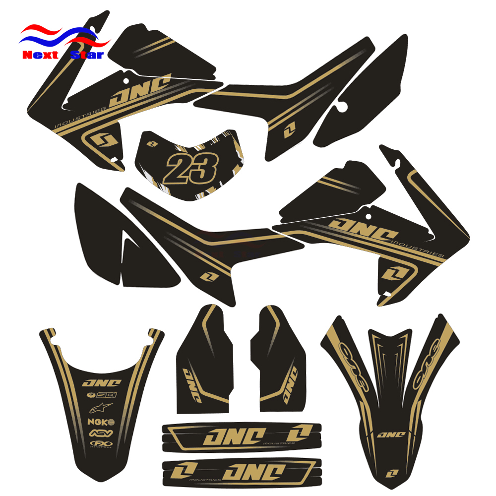 Customized Number Team GRAPHICS BACKGROUNDS DECAL STICKER For HONDA CRF250L CRF250 L 2013 2014 13 14 Dirt Bike Pit Off Road цена