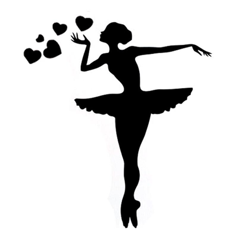 13CM*14.6CM Interesting Sport Gymnastics Dance Fitness Silhouette Vinyl Car Sticker Black/Silver S9-1181