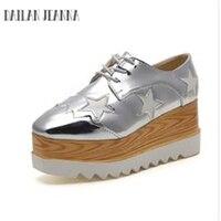 Dailan Jeanna étoiles chaussures chaussures et 2017 nouveau super documentaire Po carré à talons hauts plate-forme chaussures femme marée