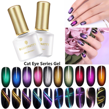 BORN PRETTY 6ml Gel Nail Polish Magnetic Cat Eye Effect UV Glamorous Chameleon Lacquer Soak Off LED Varnish
