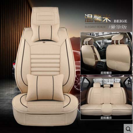 5 pieces / set spring and summer autumn and winter show 2016 new arrival linen car seat cover environmental protection comfort